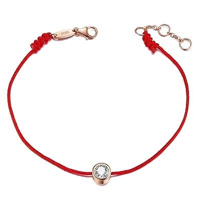 SHEGRACE Bracelet Femme en Argent 925 Sterling avec AAA Zircon, Fil Rouge,  Bijoux pour 62c6b36f12eb