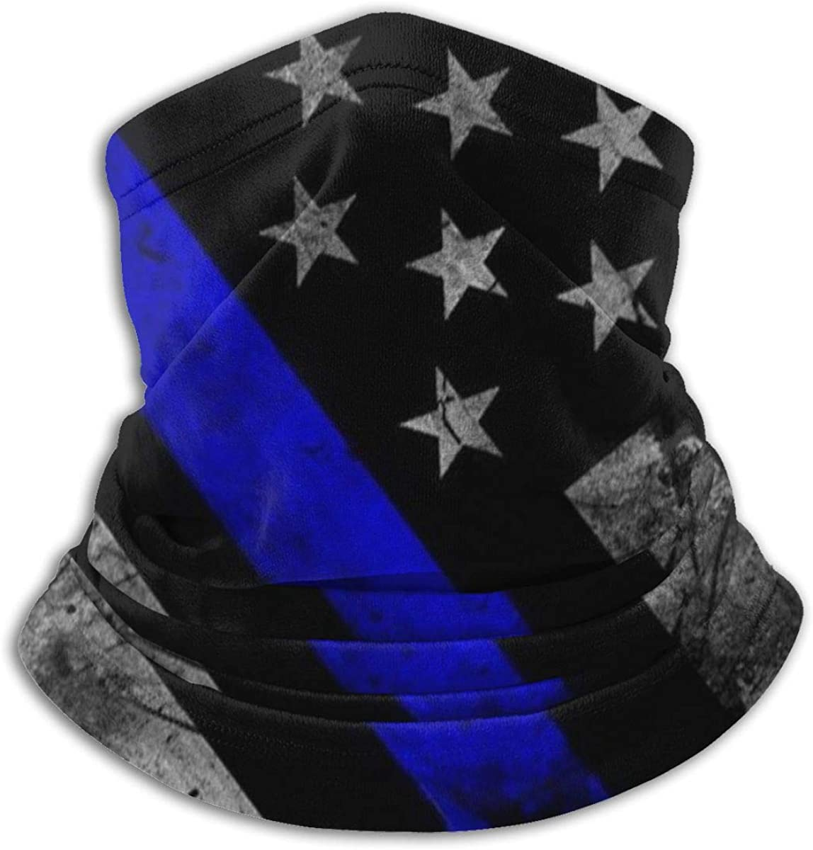 Face Mask Bandana Blue Lives Matter Flag Ear Face Mask for Men Women, Dust-Free Neck Warmer Cover Sportswear for Cycling, Cold Weather, Ski, Multifunctional Shield Scarf: Clothing