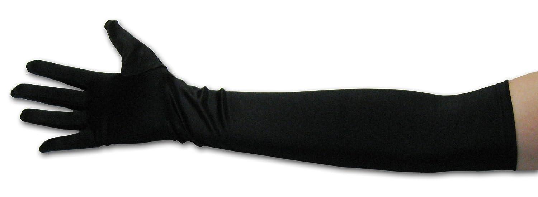 Long black gloves amazon - Amazon Com 22 Classic Adult Size Long Opera Length Satin Gloves Black Clothing
