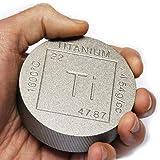 Titanium Bullion Paperweight - 1lb Round 999 Pure Chemistry Element Design by Metallum Gifts