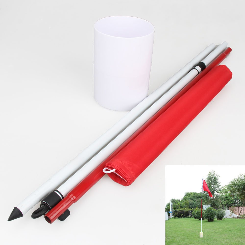 amazon com ttnight backyard 3 section practice golf hole pole
