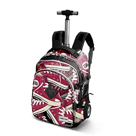 PRODG Tracks Trolley Travel Mochila Tipo Casual, 48 cm, 28 Litros, Rojo