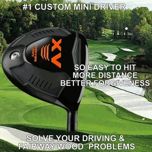 #1 MINI Golf Driver Taylor Fit Made Illegal Distance Long Driver Custom PGA Club by Custom Golf Drivers