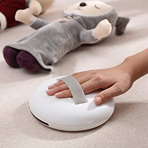 VOLUEX Cleanse Robot Anti Dust Mite Vacuum Cleaner, UV Dust Mite Auto Cleanse Bot for Home Household Bed Sofa Travel - White