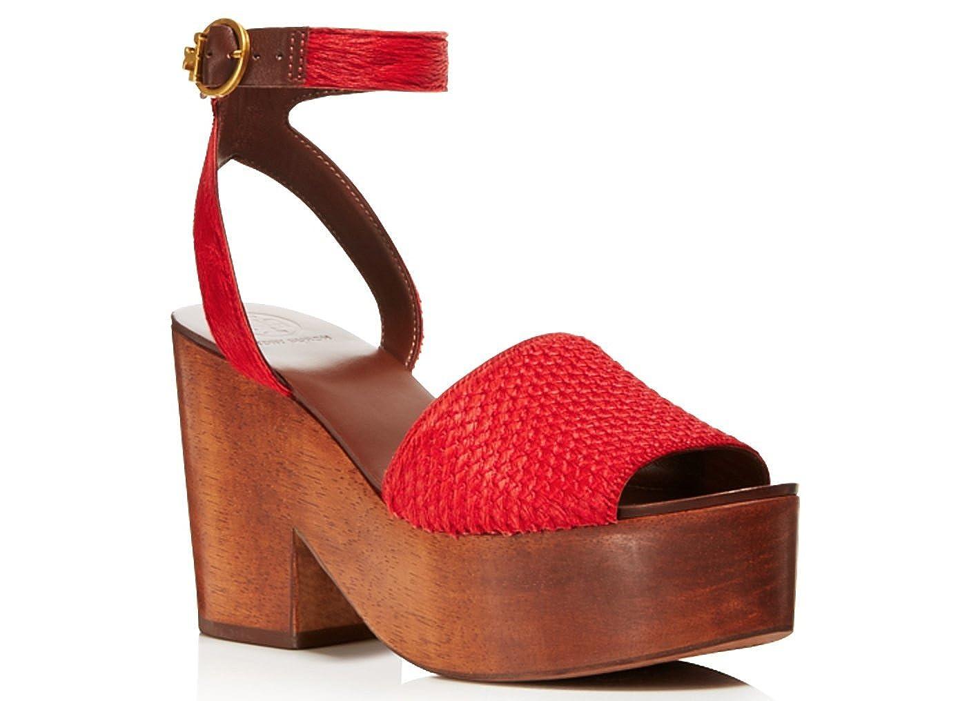 Tory Burch Camilla Sandals Exotic Red B078X4HGZZ 6 B(M) US