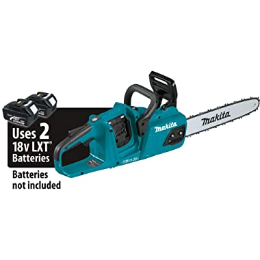 Makita XCU07Z 18V X2 (36V) LXT Lithium-Ion Cordless, Tool Only Brushless 14  Chain Saw, Teal