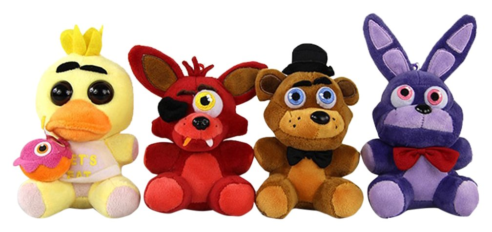 Generic Five Nights at Freddy's Inspired Plush Dolls Stuffed Animal Toys, 4 Piece Sun Star Toys Toys-020