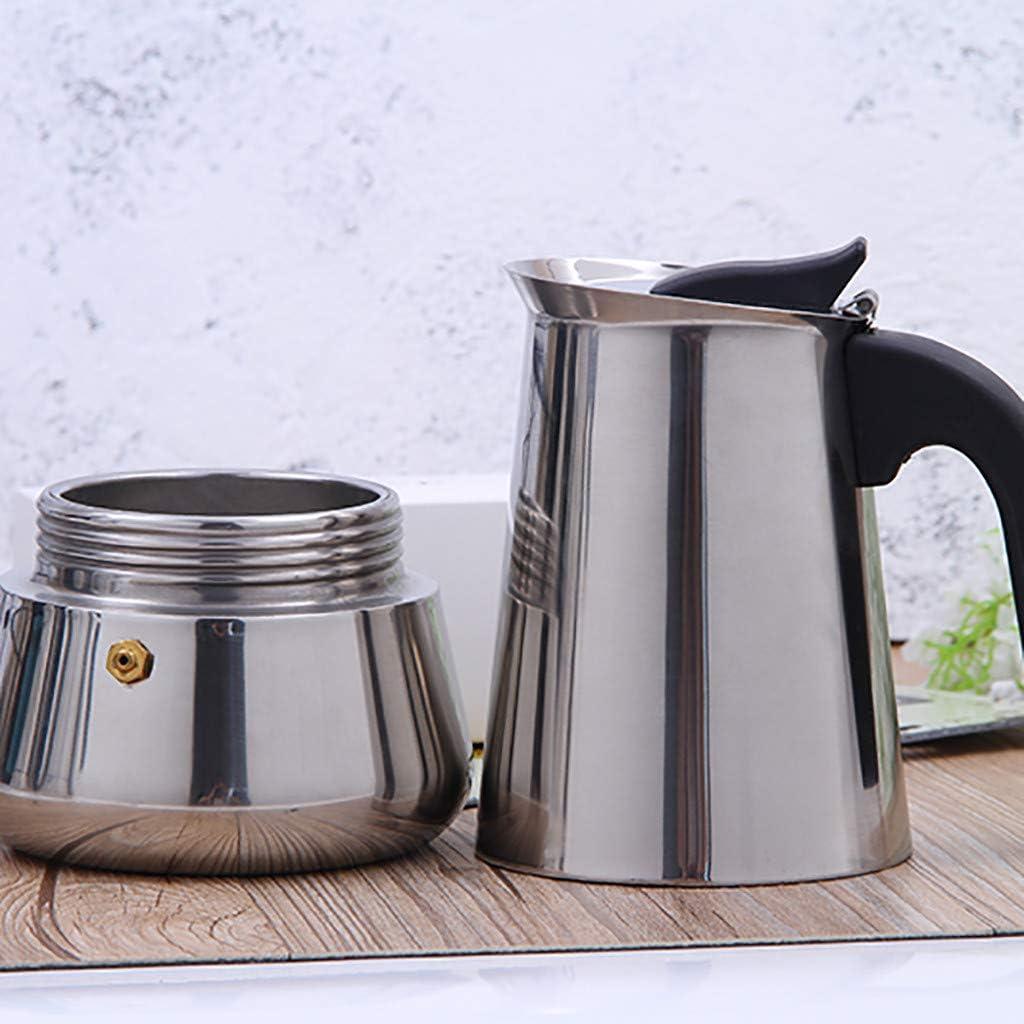 Cafetière Italienne Inox 2 Tasse Espresso Maker REF.540056 Acier Inoxydable