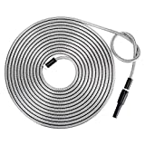 Beaulife Strong 304 Stainless Steel Metal Garden Hose with Nozzle 100ft Flexible Lightweight
