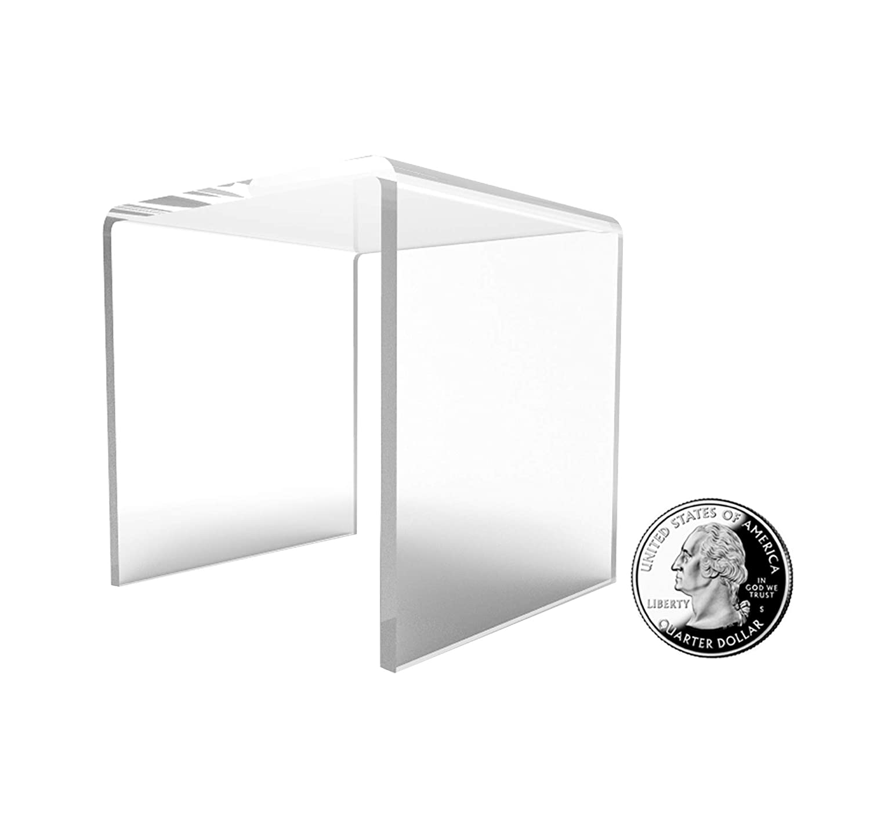 1//8 Thick 16905-5INCH-BLACK-NF FixtureDisplays 5 Black Plexiglass Pedestal Lucite Acrylic Display Risers Jewelry Showcase Fixtures