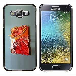 Eason Shop / Premium SLIM PC / Aliminium Casa Carcasa Funda Case Bandera Cover - Pintura del cartel del arte moderno - For Samsung Galaxy E5 E500