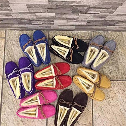 de XIE Cuero la Nieve Acolchados Lana Botas algod Zapatos para Invierno de Botas Arco de Perezoso de wqw8HR