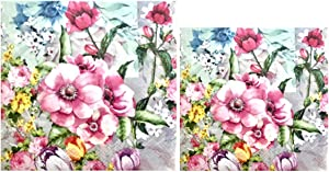 Meghan Individual Decoupage Beverage & Luncheon Size Paper Napkins, 2 ct (1of ea)