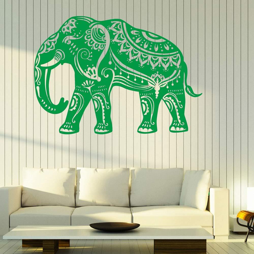 Patrón de calcomanía de vinilo de pared de elefante indio en la ...