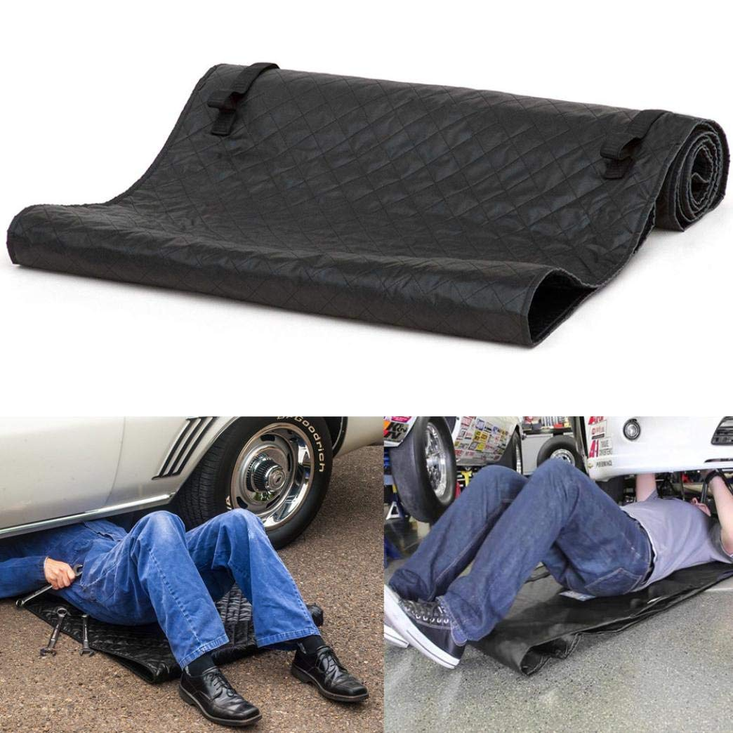 Lljin Magic Creeper Mat, Pad, Black Automotive Creeper Rolling Pad For Working On The Ground 70x150cm