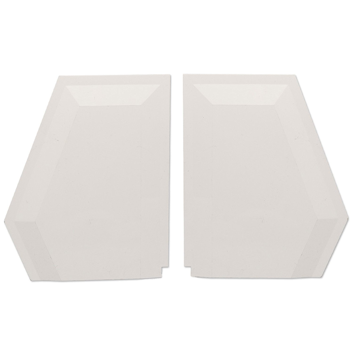 1 Pair of White Wendland Glazing Bar End Cap Left RS3444 & Right RS3445 for Wendland Conservatory Roof Spar/Glazing Bars - Various Colours and Options Available