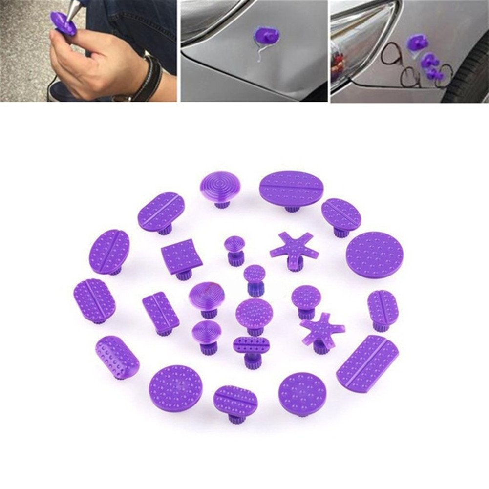 GS 24pcs Glue Pulling Tabs Auto Body Paintless Dent Repair Tools Dent Remover Hail Damage PDR Tools Kit GuangSheng
