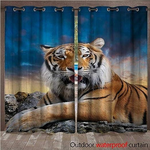 BlountDecor Tiger - Cortina con Ojales en la Parte Superior ...
