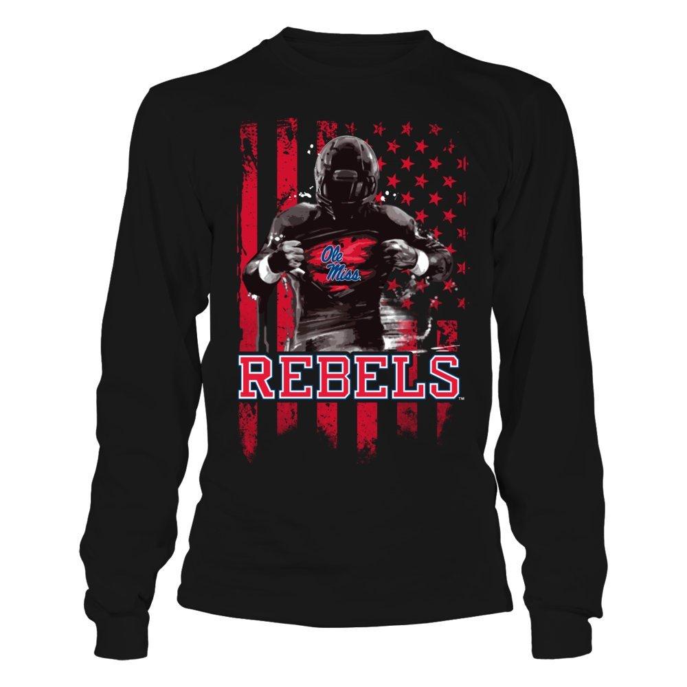 Player Flag FanPrint Ole Miss Rebels T-Shirt