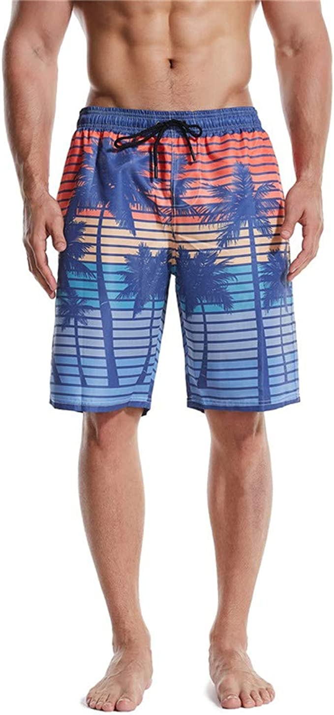 DIOMOR Mens Bule Classic Swim Drawstring Trunks Quick Dry Beach Surfing Running Swimming Shorts Party