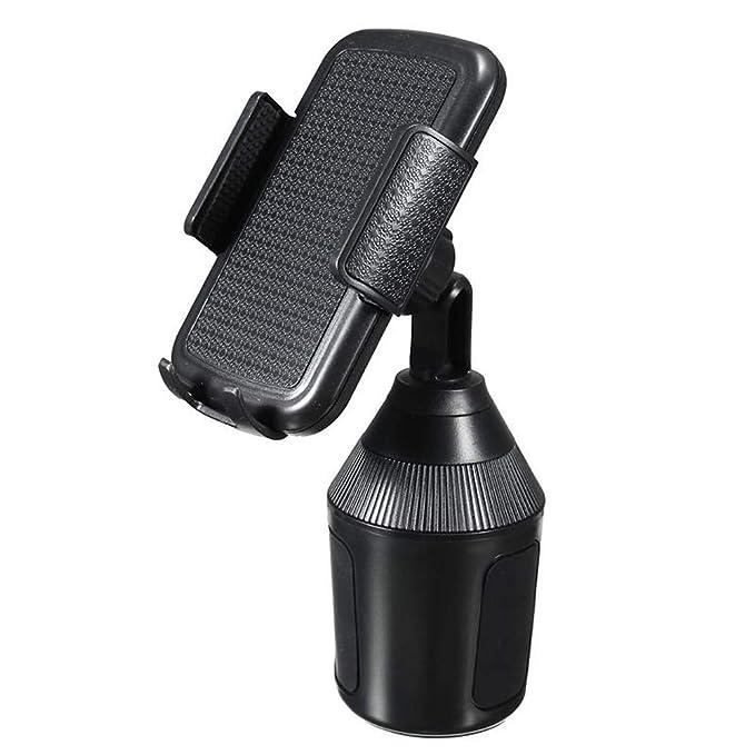 Soporte Movil Coche, JiaMeng Soporte Universal Ajustable para portavasos para teléfonos celulares