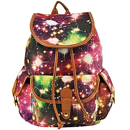 Style Star for Girls College Daypack Women Backpack Casual Teens Printed Purple MiCoolker Cute Print Bag Travel TfWFA