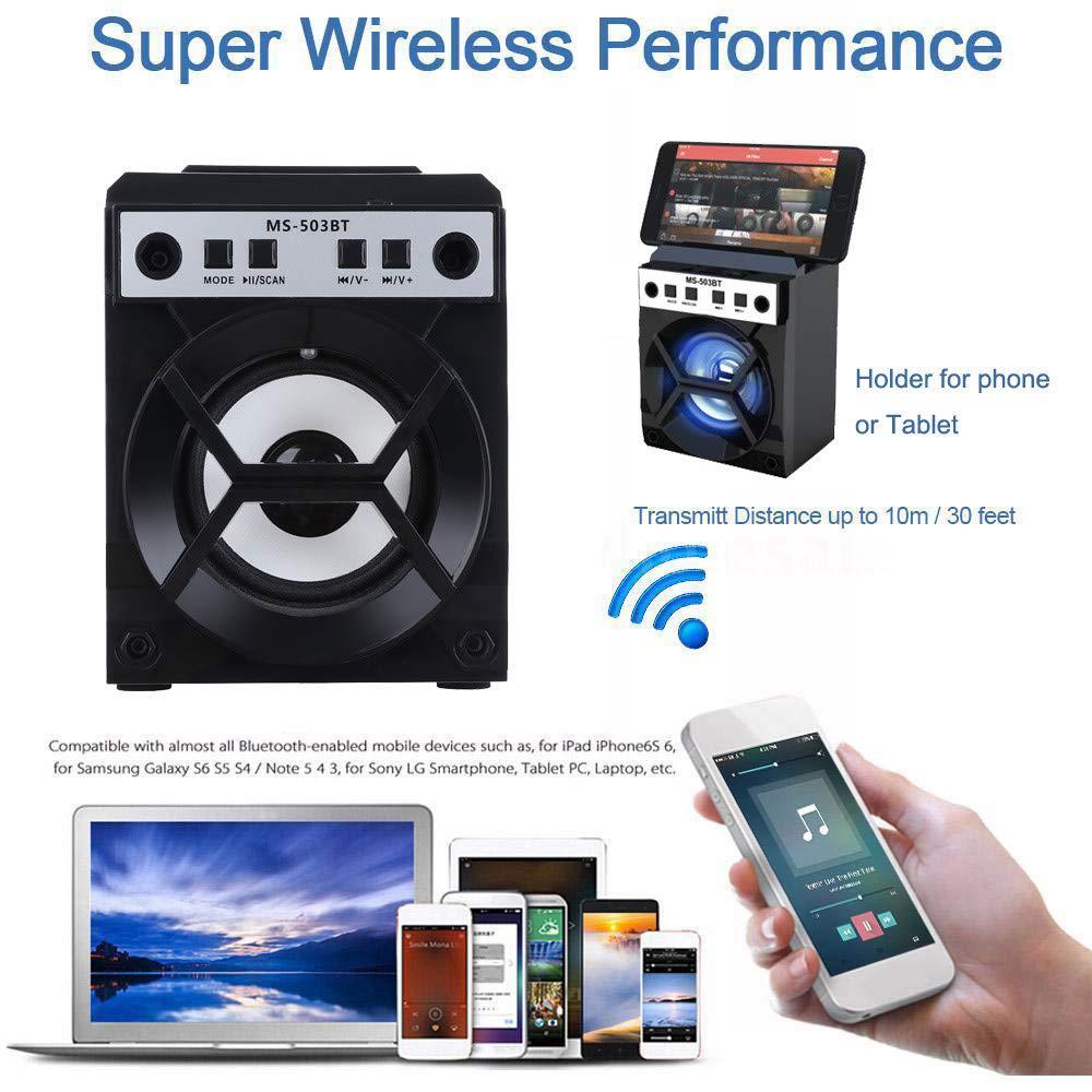 Outdoor Bluetooth Wireless Portable Speaker Super Bass with USB/TF/AUX/FM Radio F