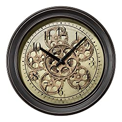 Lacrosse BBB85289 13 in. Metal Clock with Working Gears