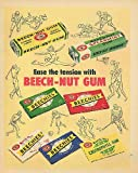 Ease the tension with Beech-Nut Chewing Gum ad 1954