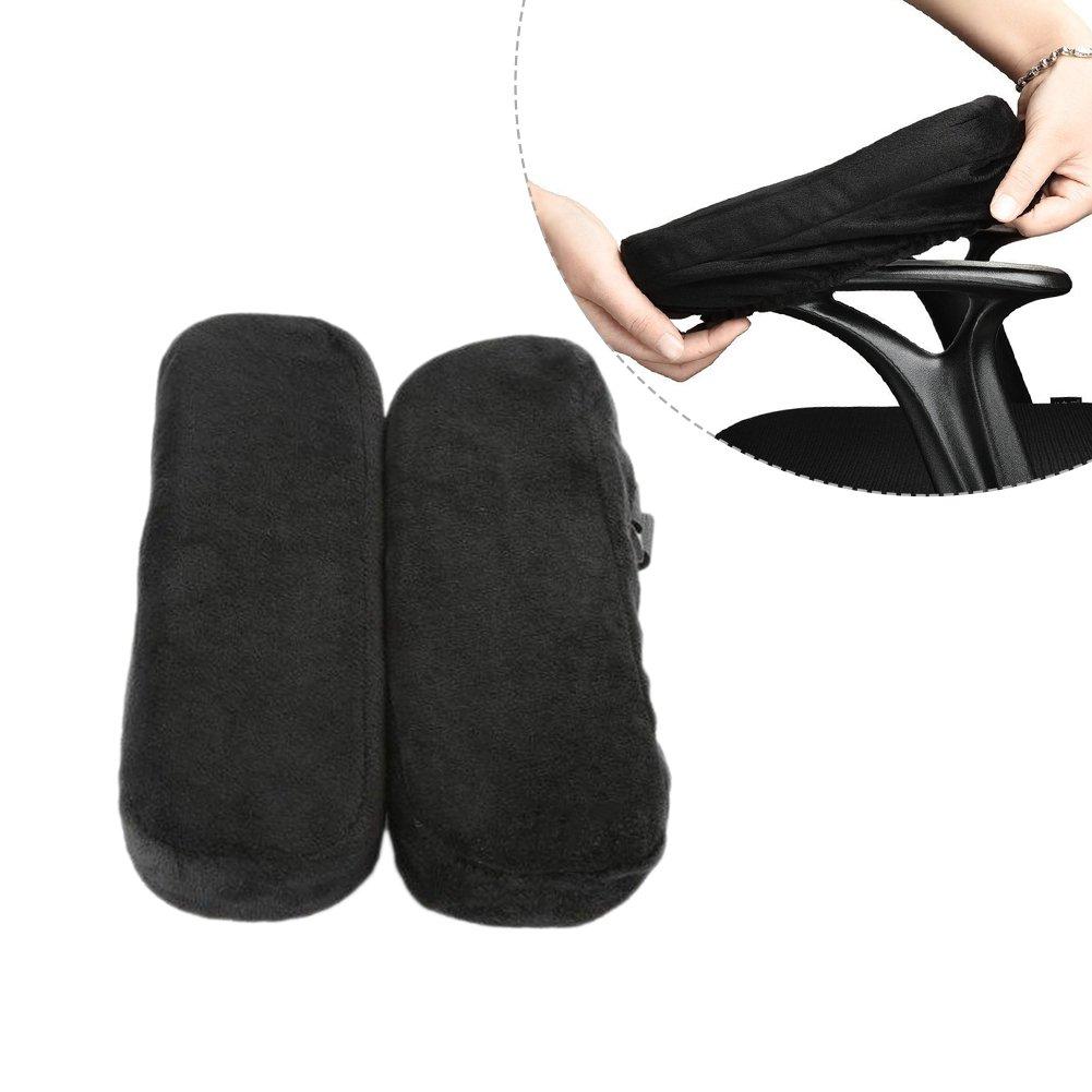 Bloomma pastiglie per sedie da ufficio, 1 paio di cuscini per braccioli in gommapiuma per guanciali in memory foam per avambracci,25.4cm x 13cm