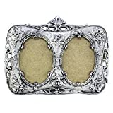 The Holy Mart Silver Plated Double Photoframe