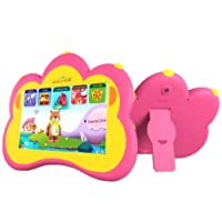"""Kids Tablet, B.B.PAW 7"""" Whole Brain Education Tablette Pour Enfants 2 to 6 Years Old with 90+ Preloaded Learning and Training Apps-Candy Pink"""