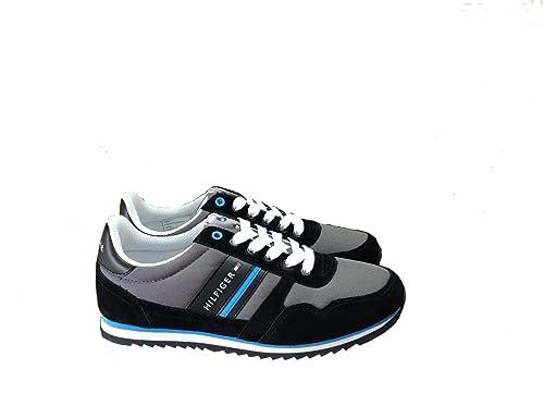Tommy Hilfiger - Zapatillas de tela para hombre Negro negro 40: Amazon.es: Zapatos y complementos