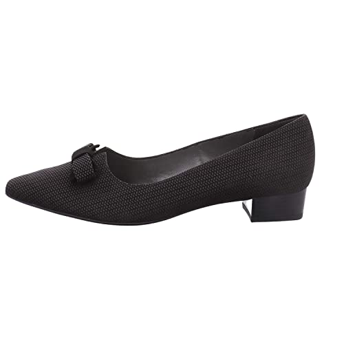 a8025484b76f Peter Kaiser Leah Pointed Toe Low Heel Courts in Black Corn  Amazon.co.uk   Shoes   Bags