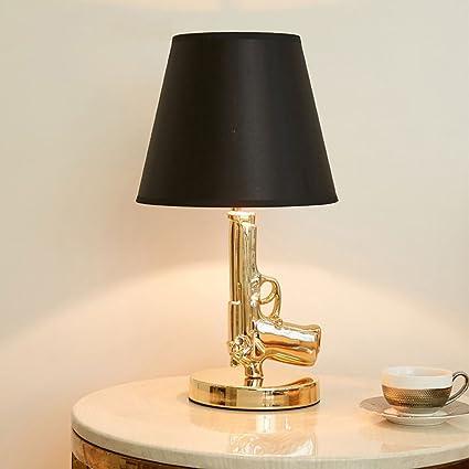 Pointhx Electroplate Gold Gun Lamp Pistola Shape Bedside ...