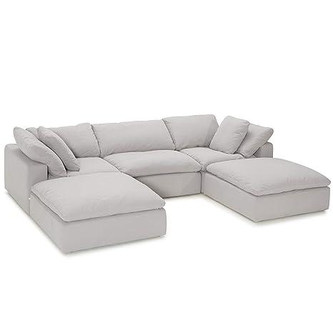 Amazon.com: Seatcraft Sofá seccional, moderno y lujoso, con ...