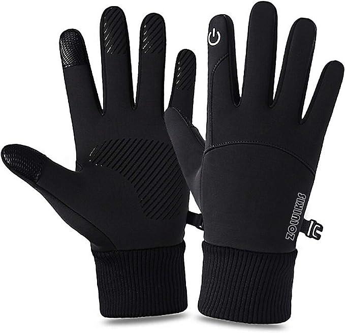 Zoluikis Fahrradhandschuhe Touchscreen Rutschfest Handschuhe Damen Herren Winddicht Sport Gloves Für Laufen Radfahren Motorrad Schwarz L Bekleidung