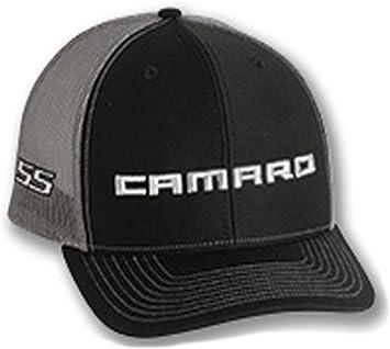 Gregs Automotive Chevrolet Chevy Camaro Ss Trucker Cap Schwarz Grau Set Enthält 1 Mütze Und 1 Aufkleber Auto