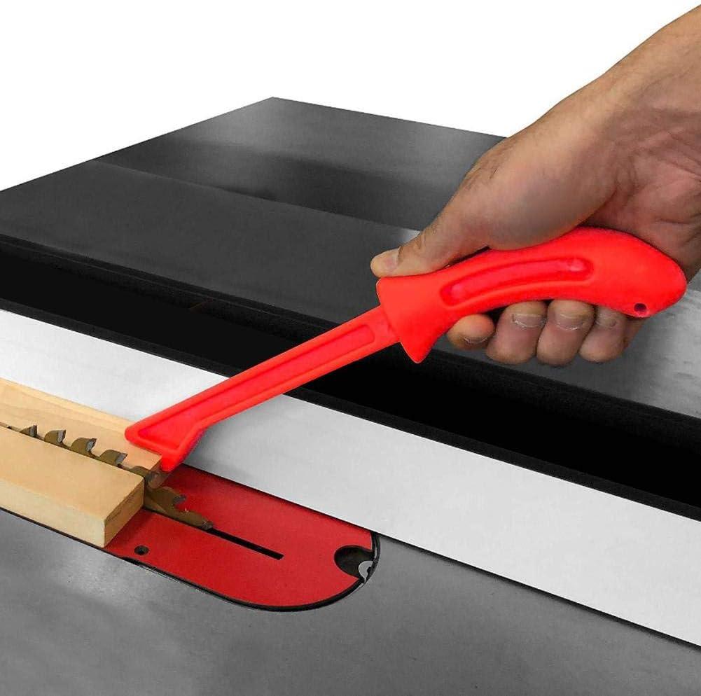 Bloque de empuje de 4 piezas naranja bloque de empuje de sierra de mesa palos de empuje de sierra de mano de pl/ástico de seguridad para trabajar la madera seguro y conveniente para funcionar