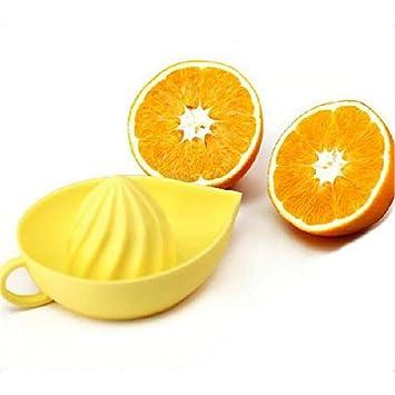 Manual exprimidor de cítricos Manual exprimidor de plástico naranja limón Fruta Zumo de prensa: Amazon.es: Hogar