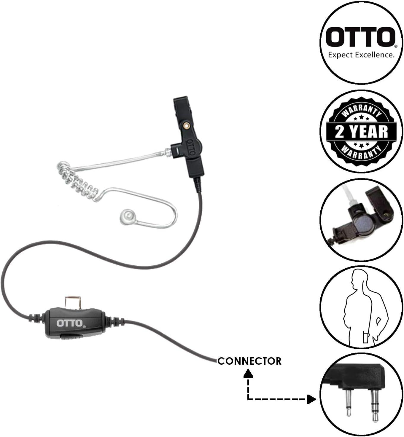 Pryme Surveillance Headset Kenwood Radios NX320 NX340 NX420 TK3173 TK2360 NX220