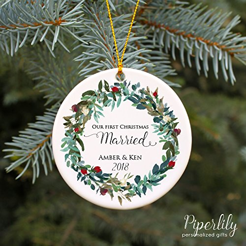 Amazon.com: Our First Christmas Married Ornament: Handmade