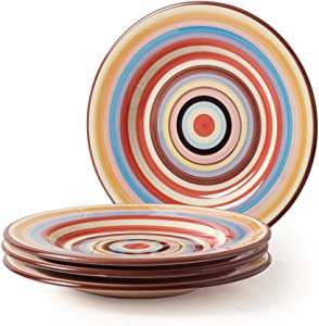 Tabletop Lifestyles 11-Inch Dinner Plate Sedone Stripe, Set of 4