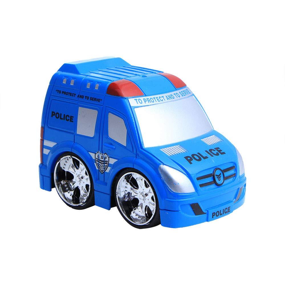 Trigle Toy Pull Back Car Mini Vehicle Children Kids Toy Decor Diecast Pull Back Car Model Xmas Gift New (Blue)
