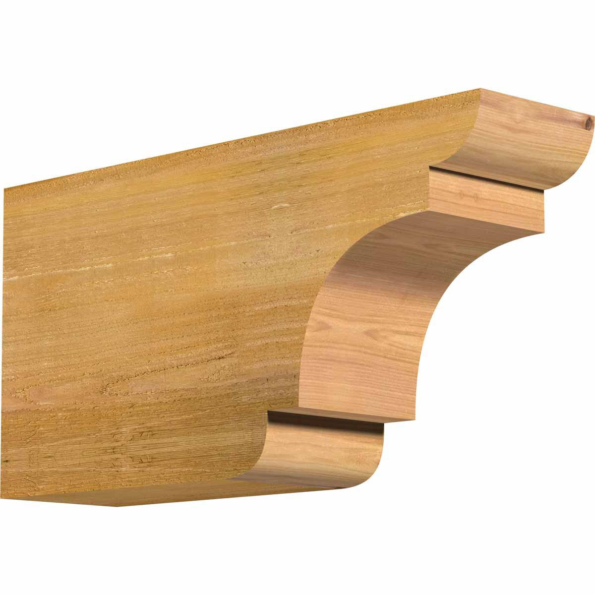 Ekena Millwork RFT06X12X24NEB00RWR New Brighton Rough Sawn Rafter Tail, 6'' Width by 12'' Height by 24'' Length, Western Red Cedar