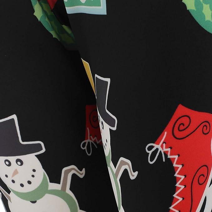 Navidad Muñecos de Nieve Flaco Elástico Luces Impresión Equipado Polainas Lápiz Pantalones Leggings Yoga Mujer Pantalones Deportivos Mujer Largos ...
