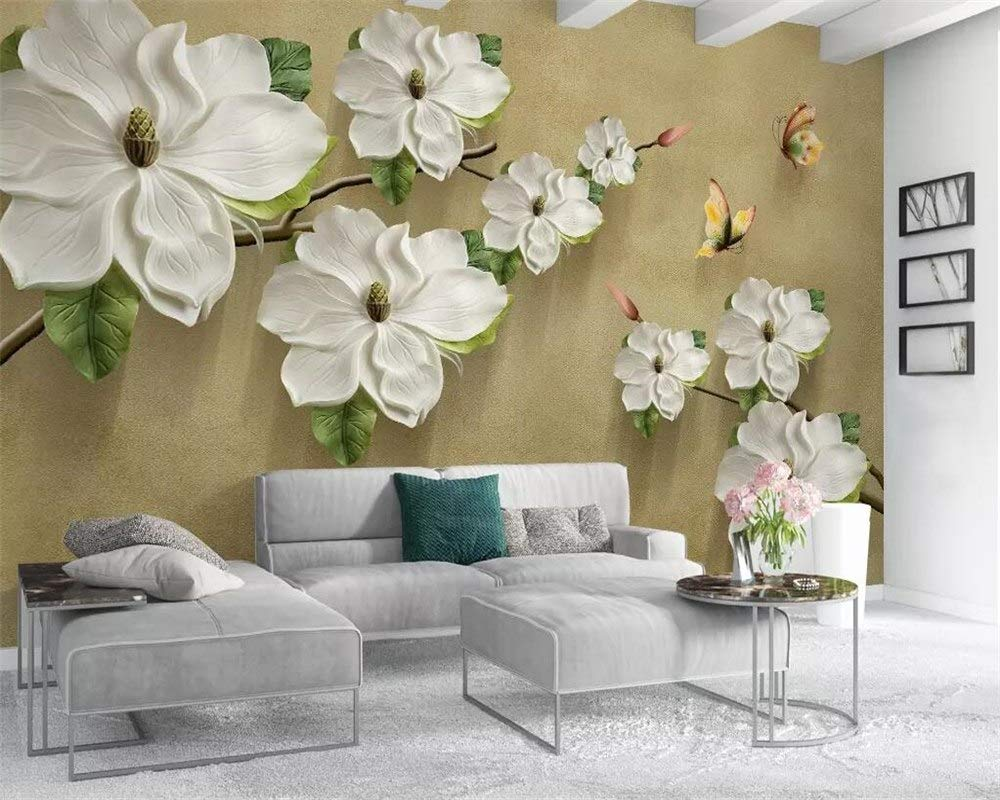 Buy Avikalp Exclusive Awz0261 3d Wallpaper Embossed Floral Butterfly Tv Background Walls Home Decoration Living Room Bedroom Hd 3d Wallpaper 7 Ft X 8 Ft Online At Low Prices In India Amazon In