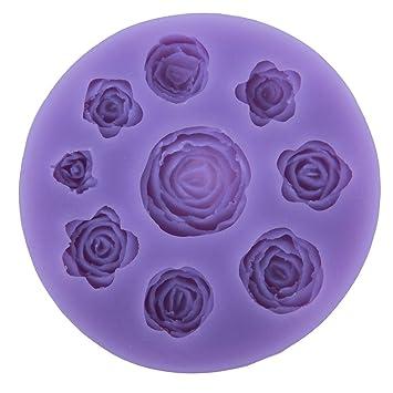 Niceeshop Tm 9 Rose Blumen Form Diy Kuchen Dekoration Fondant