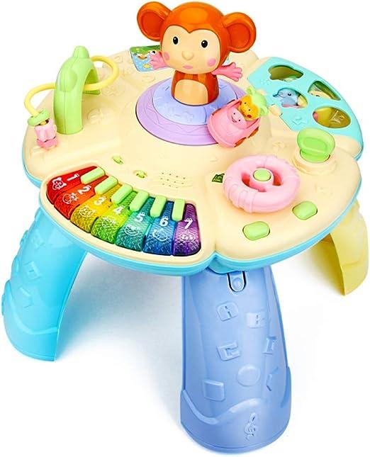 XUMING Mesa de Juego de Aprendizaje Musical para bebés, Centro de ...
