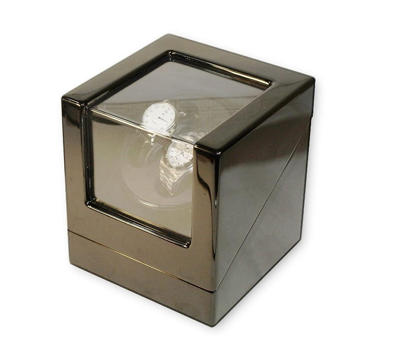 WATCH WINDER Lade Uhren schwarz Uhrenbox 2 Automatikuhren